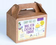 DAIRY FREE, Vegan, Paleo Brie, Feta, Chevre & Fondue Cheese Kit - Case of 12