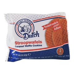2 Pack Caramel Waffle Stroopwafel Dutch Cookies - Case of 50