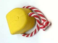 Mutts Kick Butt by SodaPup - Natural Rubber Computer Mouse Reward and Chew Toy for Aggressive Chewers - Large - Yellow