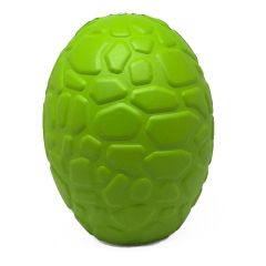 MuttsKickButt by SodaPup Natural Rubber Chew Toy and Treat Dispenser for Aggressive Chewers in the Shape of a Dinosaur Egg, Guaranteed Tough, Made in USA, Large Green