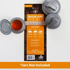 reCAP's storing honey kit showing packaging and the three included lids