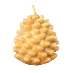 Beeswax Pinecone Candle