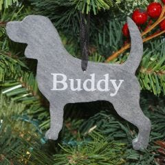 Dog Slate Christmas Ornaments - Pack of 10