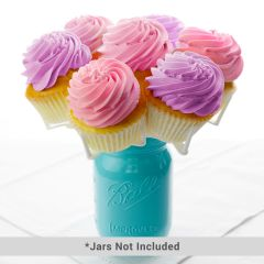 Bloom Display Mason Jar Cupcake Holder  - Bulk Pack (10)