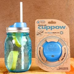 Cuppow Mason Jar Drinking Lid | Case of 12 (Jar not included)