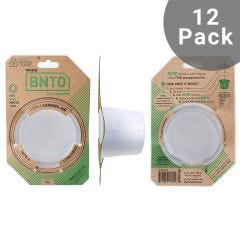 Cuppow Canning Jar BNTO | Wide Mouth | 12 Pack | Clear (Jar not included)