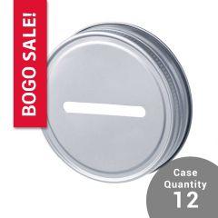 reCAP Mason Jars Metal Coin Bank lid - Regular Mouth, Case of 12