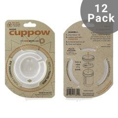 Cuppow Canning Jar Drinking Lid | Wide Mouth | 12 Pack | Clear (Jar not included)