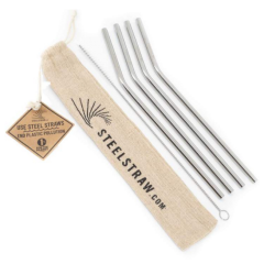 Steel Straw Gift Set - Case of 24