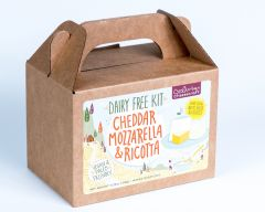DAIRY FREE, Vegan, Paleo Cheddar, Mozzarella & Ricotta Cheese Kit - Case of 12