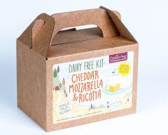 DAIRY FREE, Vegan, Paleo Brie, Feta, Chevre & Fondue Cheese Kit - Case of 12