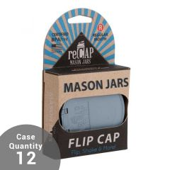 reCAP® Mason Jars   Flip Lid   PACKAGED   Case of 12