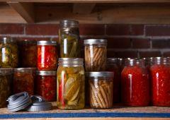 Mason jars used for canning