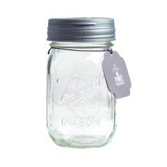 reCAP® Mason Jars FLIP & Ball Pint Jars Wholesale, Silver - Case of 12