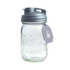 reCAP® Mason Jars POUR & Ball Pint Jar, Regular Mouth