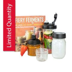 Fiery Ferments Gift Set with jars and lids