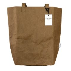 Market Tote Bag made from Washable Paper - Brown