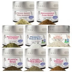 Gourmet Holiday Sugars, Salts, Seasonings Variety Pack - Set of 8