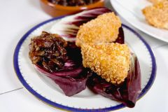 Fried Brie with Onion Jam