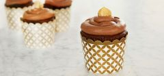 Nutella Cupcakes with Roasted Hazelnuts