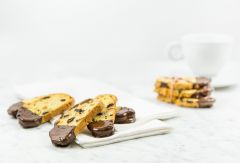 Biscotti Cookies with Chocolate, Orange, & Pistachio