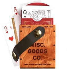 Misc. Goods Co. Wooden Single Playing Cards Case - Case of 4