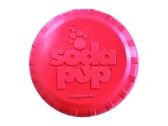 SodaPup - Natural Rubber Puppy Bottle Top Flyer - Dog Flying Disc - Fetch Toy - Soft Rubber for Tender Mouths - Pink - Small - Made in USA