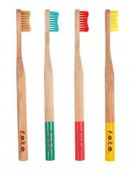 Multipack Bamboo Toothbrush- 4 Toothbrushes