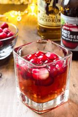 Spiced Cranberry Cider Cocktail
