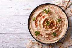 Spicy Garlic Moroccan Hummus