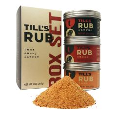 Till's Rub 3 Pack Variety Box Set  of 3 oz. Tins- Case of 4