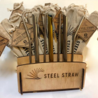 Merchandising Display for Steel Straws Only