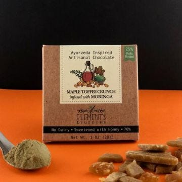 Maple Toffee Crunch with Moringa Infusion Artisan Chocolate - Case of 10