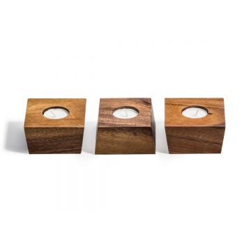 Set of 3 Candleholders with Tealights