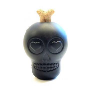 Skull treat toy