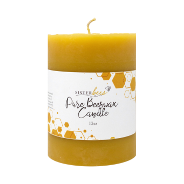 100% Pure Beeswax Pillar Candle- Case of 6
