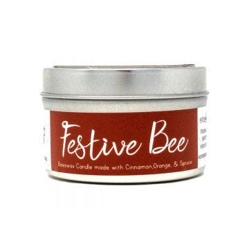 Festive Bee Beeswax Candle- Case of 6