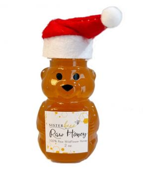 Christmas Honey Bear filled with 100% Raw Honey