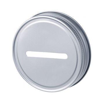 Regular mouth coin bank lid for Mason jars