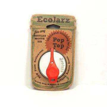 PopTop Sealable Drinking Jar Lid- of 10