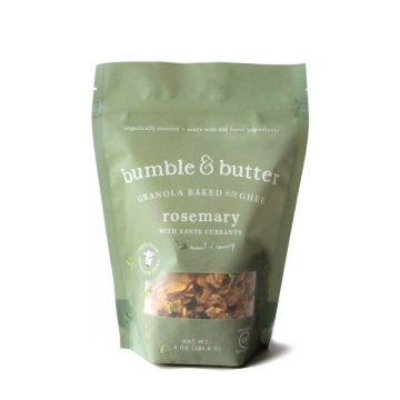 bumble & butter granola baked with ghee rosemary with zante currants sweet and savory