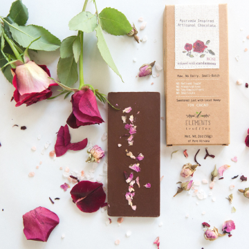 Rose with Cardamom Infusion Artisan Chocolate - Case of 10