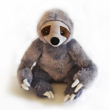 Stanley the Stinky Sloth Plush Dog Toy with Sound Insert