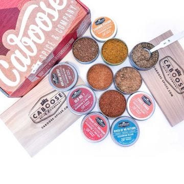 Caboose Spices Stationmaster gift set of seasoning tins