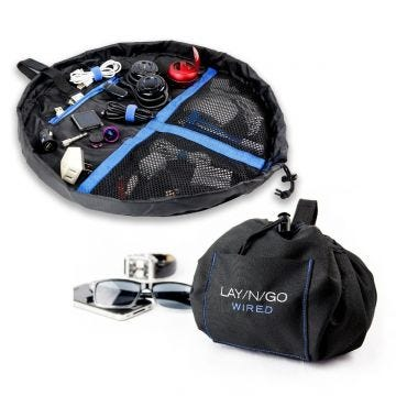 """Lay-n-Go WIRED Cord and Tech Bag (19"""")"""