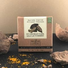 Ecuadorian 85% Dark with Turmeric Infusion Artisan Chocolate - Case of 10