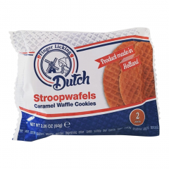 2 Pack Caramel Waffle Stroopwafel Dutch Cookies - Case of 50