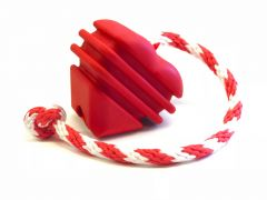 MKB Heart on a String Ultra-Durable Reward Ball - Large, Red Dog Toy