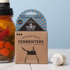 reCAP® Mason Jars Fermentation: Waterless Airlock + Stopper