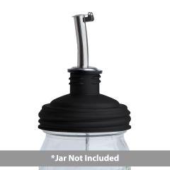 Sample - reCAP® Mason Jars Lid ADAPTA Pour Tap, Regular Mouth, Black